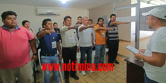 Rinden protesta auxiliares de la Junta Electoral Municipal