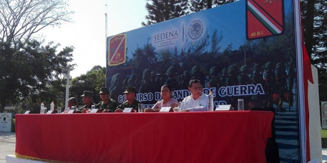 Inauguran Concurso de Bandas de Guerra 2018, a nivel Zona Militar.