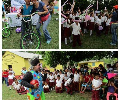 DIF Minatitlán festejó en grande a los niños de la zona rural