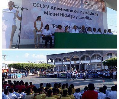 Conmemoran aniversario del Natalicio del Cura Hidalgo en Cosoleacaque.