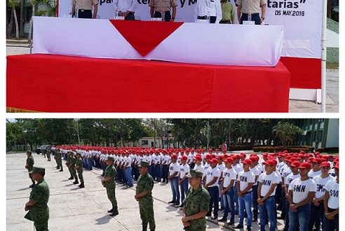 Juran protesta de Bandera más de mil Conscriptos del S.M.N.